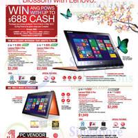 Read more about Lenovo Notebooks & Desktop PC Offers 13 Feb - 15 Mar 2015