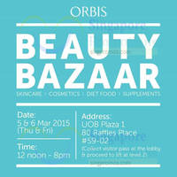Orbis Beauty Bazaar 5 - 6 Mar 2015
