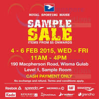 Read more about Royal Sporting House Sample SALE @ Wisma Gulab 4 - 6 Feb 2015