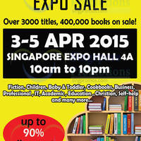 Read more about SG Bookdeals Expo @ Singapore Expo 3 - 5 Apr 2015