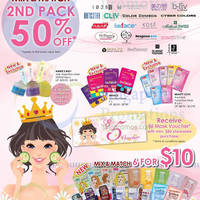Read more about SaSa 50% Off 2nd Pack of Masks (Mix & Match) Promo 23 Feb - 22 Mar 2015