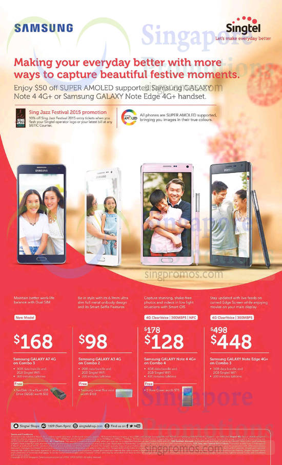 Samsung Galaxy A7, Samsung Galaxy A3, Samsung Galaxy Note 4, Samsung Galaxy Note Edge