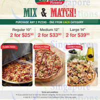 Read more about Sarpino's Pizzeria 2 from $25.90 Mix & Match Promo 27 Feb - 31 Mar 2015