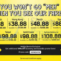 Read more about Scoot From $8.88 Promo Fares 19 - 22 Feb 2015