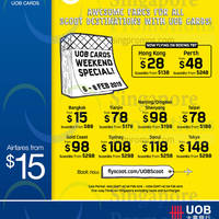 Read more about Scoot From $15 Promo Fares For UOB Cardmembers 6 - 8 Feb 2015
