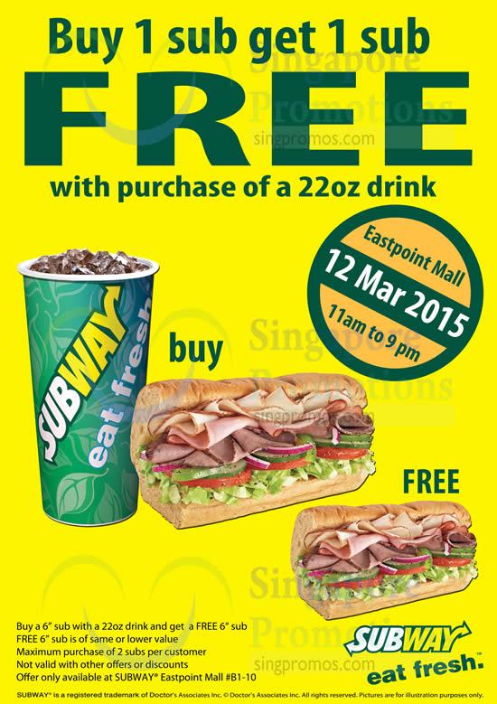 Subway coupon buy one get one free - Seattle rock n roll marathon