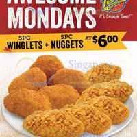 Read more about Texas Chicken $6 5pc Winglets & 5pc Nuggets Mondays Promo 2 Feb 2015