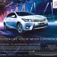 Read more about Toyota Corolla Altis Offer 7 Feb 2015