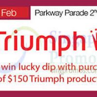 Read more about Triumph Promotion Event @ Parkway Parade 9 - 18 Feb 2015