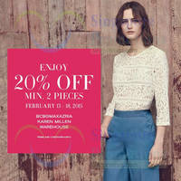 Read more about Warehouse, Karen Millen & BCBGMaxazria 20% OFF Promo 13 - 18 Feb 2015