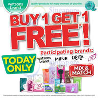 Read more about Watsons Buy 1 Get 1 FREE Selected Brands 1-Day Promo 4 Feb 2015