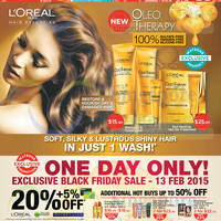 Read more about Watsons 20% Off L'Oreal, Garnier & Maybelline 1-Day Promo 13 Feb 2015