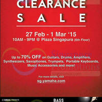 Read more about Yamaha Clearance Sale @ Plaza Singapura 27 Feb - 1 Mar 2015