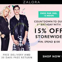 Read more about Zalora 15% OFF Storewide Coupon Code 27 Feb - 2 Mar 2015