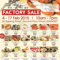 Read more about iChef Seafood Factory Sale 4 - 17 Feb 2015