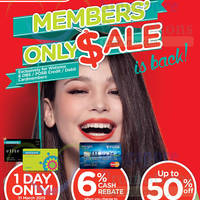 Watsons Up To 50% Off 1-Day Sale @ 62 Stores 31 Mar 2015