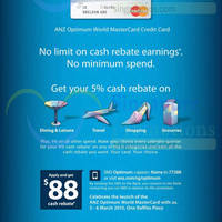 Read more about ANZ New 5% Cash Rebate Optimum World MasterCard Credit Card 5 Mar 2015
