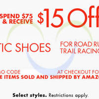 Read more about Amazon.com $15 OFF Athletic Shoes Coupon Code 24 Mar - 7 Apr 2015