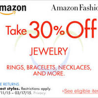 Read more about Amazon.com 30% OFF Jewellery Coupon Code 10 - 18 Mar 2015