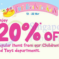 Read more about BHG 20% Off at Children's & Toys Department 13 - 22 Mar 2015