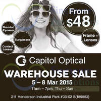 Read more about Capitol Optical Warehouse SALE 5 - 8 Mar 2015