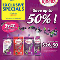 Ribena Up To 50% Off @ Cheers 31 Mar - 20 Apr 2015