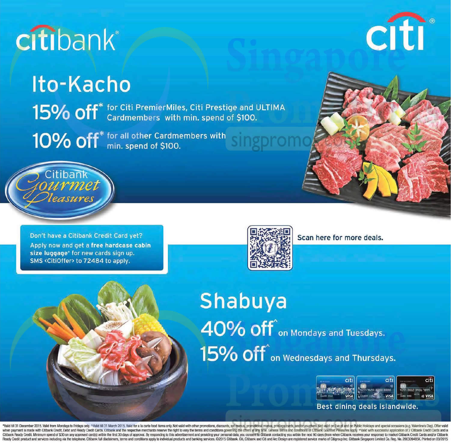 Citibank Promotions. Citibank is currently offering four promotions. Read our in-depth review of Citibank to see why Citibank scored stars out of 5. We like their perks for high balance customers, many fee-free atms, and global presence.
