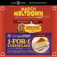Coffee Bean & Tea Leaf 1 for 1 Cheesecake 1-Day Coupon 30 Mar 2015