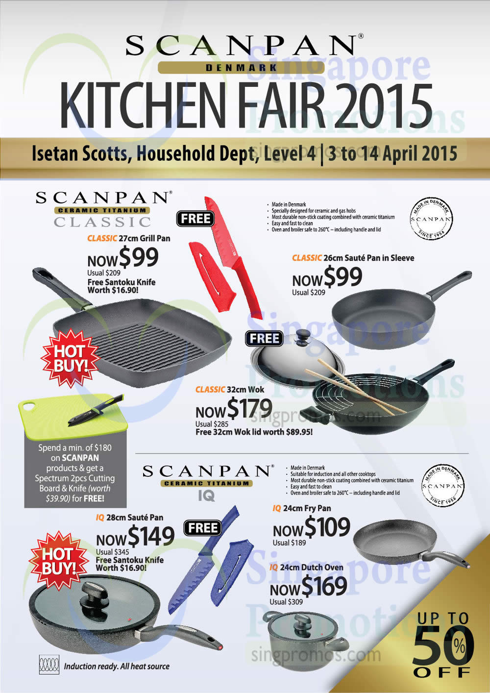 Cookware, Classic, IQ, Grill Pan, Saute Pan, Woks, Fry Pan, Dutch Oven, Cutting Board, Knife, Isetan Kitchen Fair 2015