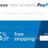 Read more about Crocs 15% Off NO Min Spend & FREE Shipping Online Promo 9 - 17 Apr 2015