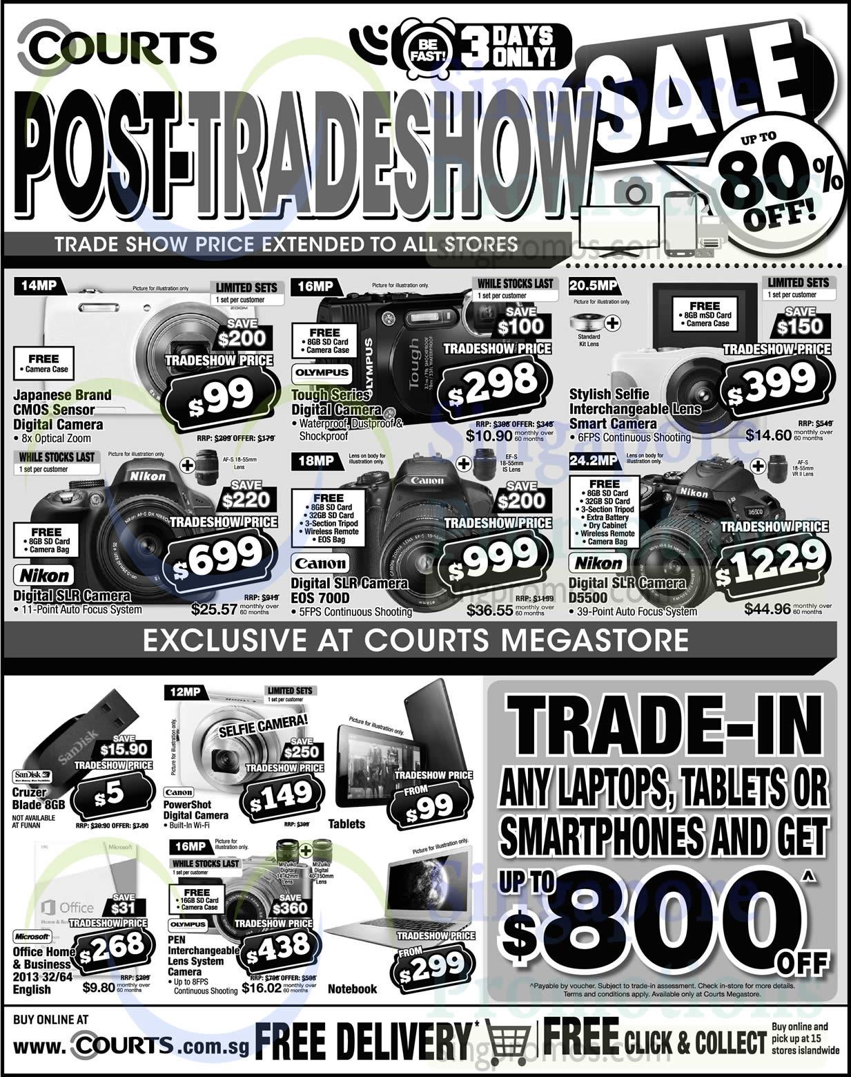 Canon EOS700D DSLR Digital Camera, Nikon D5500 DSLR Digital Camera, Microsoft Office Home & Business 2013 32/64 English