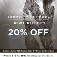 Read more about Dorothy Perkins 15% Off New Collection 9 - 15 Mar 2015