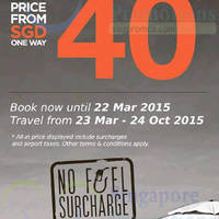 Read more about Firefly From $40 One Way (all-in) Promo Fares 10 - 22 Mar 2015