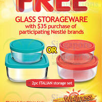 Read more about Nestle Spend $35 & Redeem 2pc Italian Storage Glassware Set 1 Mar - 30 Apr 2015