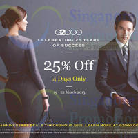 Read more about G2000 25% Off Storewide Promo 19 - 22 Mar 2015