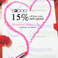 G2000 Spend $100 & Get 15% Off 5 - 8 Mar 2015
