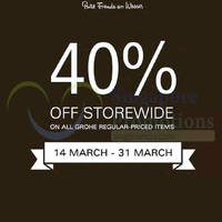 Read more about Grohe 40% Off Storewide Promotion 14 - 31 Mar 2015