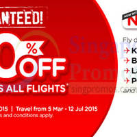 Air Asia 20% Off All Seats & All Flights Promo 3 - 8 Mar 2015