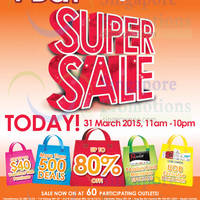 Guardian Up To 80% Off 1-Day Super Sale @ 60 Stores 31 Mar 2015