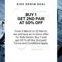Read more about H&M 50% Off 2nd Kids Denim Promo 5 - 22 Mar 2015