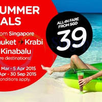 Air Asia From $39 (all-in) Promo Fares 30 Mar - 5 Apr 2015