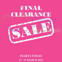 Read more about Isetan Orchard Final Clearance Sale 13 - 31 Mar 2015