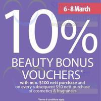 Read more about Isetan Beauty Items Spend $100 & Get 10% Beauty Bonus Voucher 6 - 8 Mar 2015
