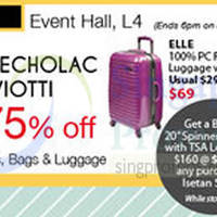 Isetan Travel Bags & Luggages Promo Event @ Isetan Scotts 3 - 9 Apr 2015