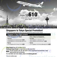 Read more about Japan Airlines From $610 (all-in) Tokyo Promo Fares 16 - 31 Mar 2015
