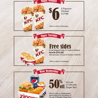 KFC Delivery 50% Off Ultimate Zinger Box Wednesdays Promo 4 Mar 2015