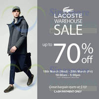 Read more about Lacoste Warehouse Sale @ Wisma Gulab 18 - 20 Mar 2015