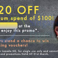 Read more about Lazada $20 OFF Storewide Coupon Code 4 - 31 Mar 2015