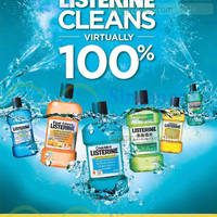 Listerine 3 Bottles For $19.90 Promo 4 Mar 2015
