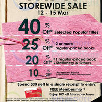 Read more about MPH Bookstores Up To 40% OFF Promo 12 - 15 Mar 2015